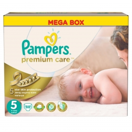 Pampers - Scutece Premium Care 5 Mega Box 88 buc
