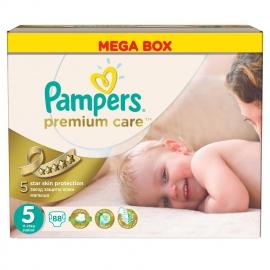 Pampers - Scutece Premium Care 5 Mega Box 88 buc