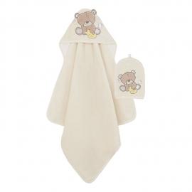Mothercare - Prosop de baie si manusa, Teddy's Toy Box 75x75 cm