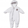 Converse - Salopeta All Star Infant Snowsuit, Alb
