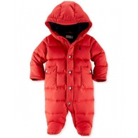 Ralph Lauren - Baby Girls Down Bunting Snowsuit, Red