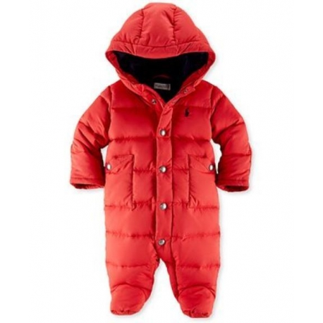 Ralph Lauren - Baby Girls Down Bunting Snowsuit, Red