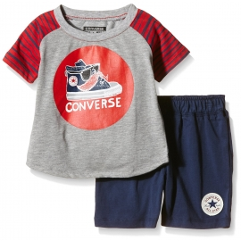 Converse - All Star Infant Set Tricou si Pantaloni Scurti, Constachio