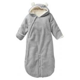 GAP - Salopeta bebelusi Fleece Bear Bunting , Gri