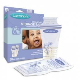 Lansinoh - Pungi De Stocare Lapte Matern, 50 buc