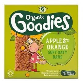 Batoane din cereale Organix Goodies, Mere, Portocale, 6x30 g, de la 1 an