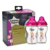 Tommee Tippee - Set Biberoane Decorate Roz 2X340ml, 3 luni+