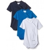 Twins - Set Body cu maneca scurta Boys Blue, 3 buc