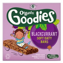 Organix - Batoane din cereale Organix Goodies, Mere si Coacaze, 6x30 g, de la 1 an