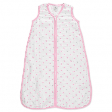 Aden + Anais - Sac de dormit Summer Pink Stars, 1 TOG