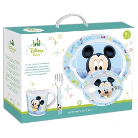 Disney - Set 5 Piese, Microwavable Set Mickey Mouse Baby