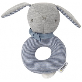 Mamas & Papas - Jucarie Welcome To The World Ring Rattle Soft Toy, Blue