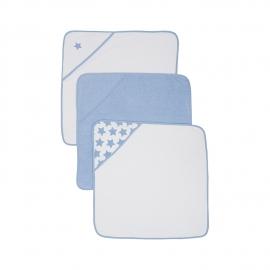 Mothercare - Prosop de baie Cuddle 'N' Dry, Bleu, 3 buc