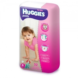 Huggies - Scutece-chilotel Pants Mega pack 4, Girl, 9-14 kg, 52 buc