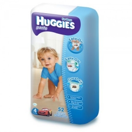 Huggies - Scutece-chilotel Pants Mega pack 4, Boy, 9-14 kg, 52 buc