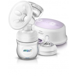 Philips AVENT - Pompa de san electrica cu biberon pentru hranire naturala SCF332/01