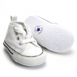 Converse - Tenisi All Star Crib Trainers, First Star, Alb