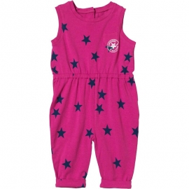 Converse - All Star Infant Salopeta Printed Jumpsuit, Cosmos Pink
