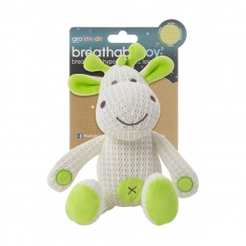 Gro - Jucarie Breathable Toy Gro Friends, Girafa Raff