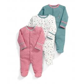 Mamas&Papas - Set Pijamale All-in-one Confetti, 3 buc