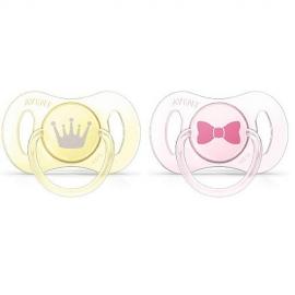 Philips AVENT - Suzete Mini, 0-2 luni, galben/roz, 2 buc