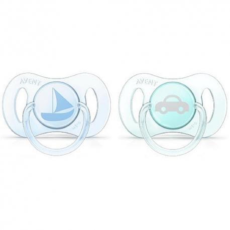 Philips AVENT - Suzete Mini, 0-2 luni, verde bleu, 2 buc