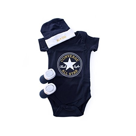 Converse - All Star Infant Set 3 piese, 0-6 luni, bleumarin