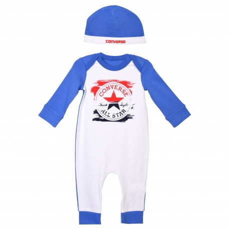 Converse - All Star Infant Set Body All-in-one si Caciulita, Classic Blue