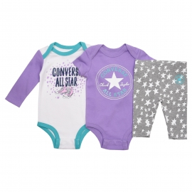 Converse - Set 2 Body si Pantaloni All Star Infant, Mov