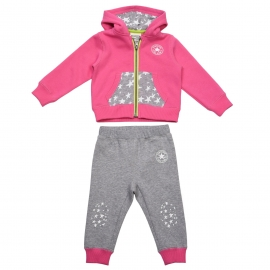 Converse - All Star Infant Set Hanorac si Pantaloni Jogger, Roz