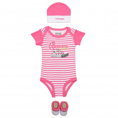 Converse - All Star Infant Set 3 piese, 0-6 luni, Mod Pink