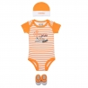 Converse - All Star Infant Set 3 piese, 0-6 luni, Mod Orange