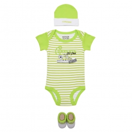 Converse - All Star Infant Set 3 piese, Mod Lime