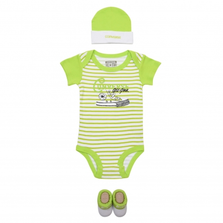 Converse - All Star Infant Set 3 piese, 0-6 luni, Mod Lime