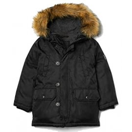 GAP - Geaca Puf baieti Down Parka, Dark Grey