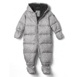 GAP - Salopeta bebelusi iarna Warmest Down Fill, Gri
