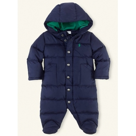 Ralph Lauren - Baby Down Bunting Snowsuit, Navy
