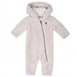 Converse - Salopeta All Star Infant Polar Sherpa, Alb
