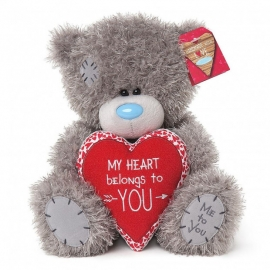 Me to You - Ursulet Tatty Teddy My Heart Belongs to You, Medium, 10""