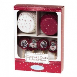 Me to You - Set pentru Briose, Christmas Cupcake Cases&Topper