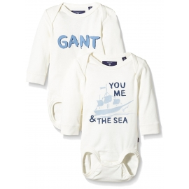 GANT - Set Body cu maneca lunga You Me the Sea, 2 buc