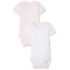 United Colours of Benetton - Set Body cu maneca scurta, 2 buc, Roz