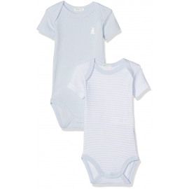 United Colours of Benetton - Set Body cu maneca scurta, 2 buc, Bleu