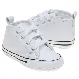 Converse - Tenisi All Star Crib Trainers, First Star Piele, Alb