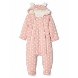 GAP - Salopeta Cozy Bear One-piece, Light Pink