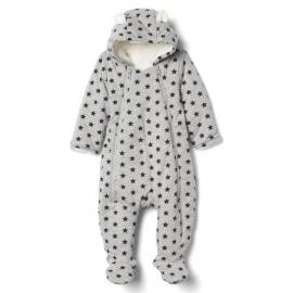 GAP - Salopeta Cozy Bear One-piece, Stars Grey