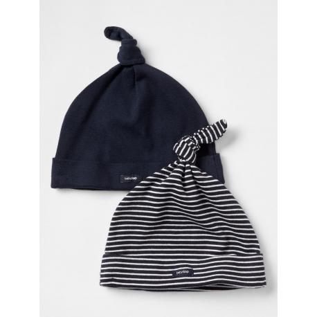 GAP - Set caciulite bebelusi knot, Navy, 2 buc