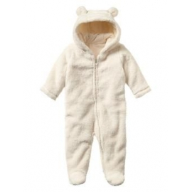 GAP - Salopeta Bear One-piece Pramsuit, Ivory