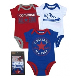 Converse - All Star Infant Set 3 Body Gift, Bleumarin