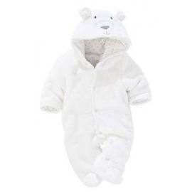 Next - Salopeta bebelusi Fleece Bear White